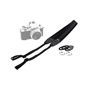 JJC Soft Neoprene Neck Strap for Mirrorless Camera - Fuji Finepixel X-T1/X-T2/X-T10/X-T20/X-E2S/X-PRO1/X-PRO2, Sony Alpha A6500/A6300/A6000, Canon EOS M6/M5, Olympus OM-D E-M10 Mark II/E-M5 Mark II