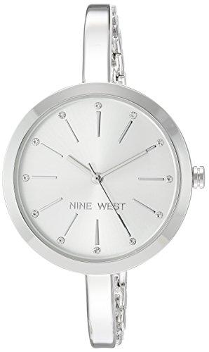 Nine West Women's Quartz Metal and Alloy Dress Watch, Color:Silver-Toned