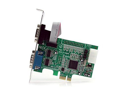 StarTech.com 2 Port Native PCI Express RS232 Serial Adapter Card with 16550 UART PEX2S552