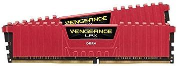 Corsair Vengeance LPX - Módulo de Memoria XMP 2.0 de Alto Rendimiento de 16 GB (2 x 8 GB, DDR4, 3000 MHz, C15) Color Rojo