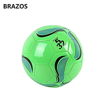 Buy HATCHMATIC Brazos Official Size 5 Child Training Soccer Ball Youth  Teenagers Adult Game Balls Match Competition Football Game Sport Futbol   White Online ... 2ae7b6758033d