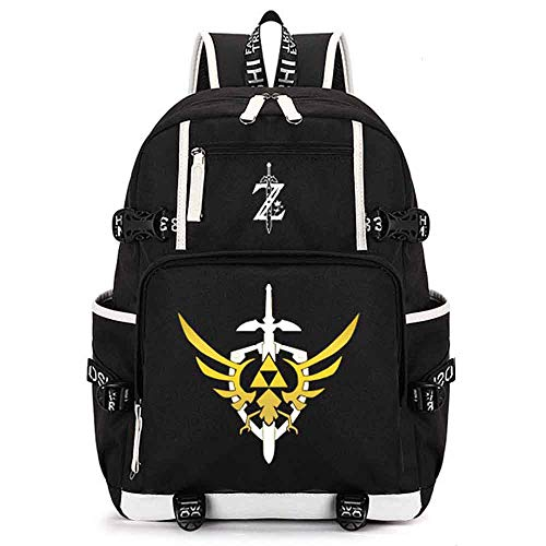 DCW The Legend of Zelda Breath of The Wild Sheikah Eye Luminous Backpack Schoolbag Cosplay Bookbag Casual Game (style4) (Breath Of The Wild In Zelda Timeline)
