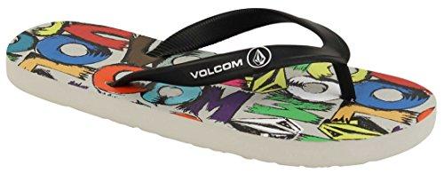 Boy's Volcom 'Rocker' Flip Flop, Size 1 M - Red