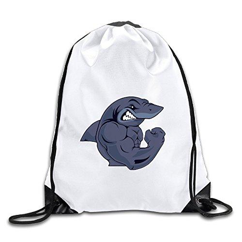 RYAN Strong Shark Unisex Drawstring Backpack Sackpack Bag