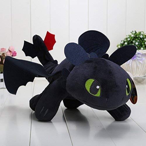 ZAMMA How to Train Your Dragon 2-10 Toothless Night Fury Stuffed Animal Plush Doll Toy