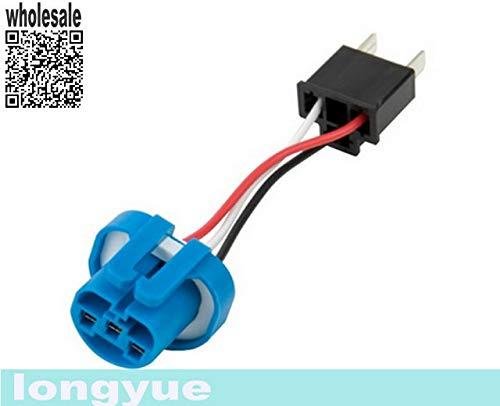 Davitu 2pcs HB2/H4/9003 to 9007/HB5 Conversion Socket Adapter 10cm cable
