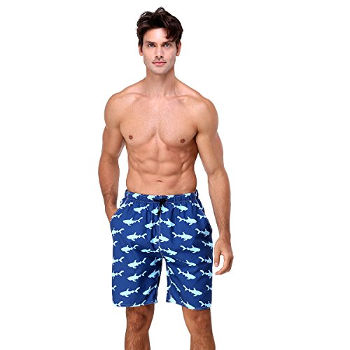 youvimi Men Swim Trunks Mesh Lining Beach Shorts with Adjustable Pull Cord …