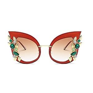 YABINA Luxury Sunglasses Women Inlaid Rhinestone Retro Sun glasses (03)