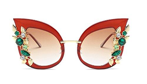 YABINA Luxury Sunglasses Women Inlaid Rhinestone Retro Sun glasses - Rhinestone Glasses