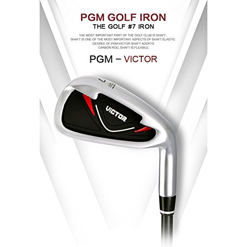 (PGM VICTOR Golf Clubs #7 Iron----Graphite Shaft (Black-Red for men))