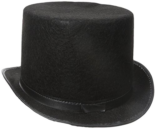 Jacobson Hat Company Men's Adult Permalux Top Hat , Black, Adult Medium (Top Hats Fancy Dress)