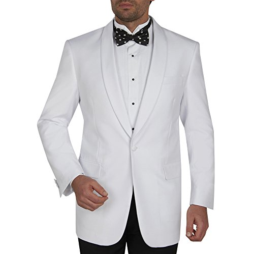 Giorgio Fiorelli Mens Dinner Jacket With Shawl Lapel Snow White (White Shawl Dinner)