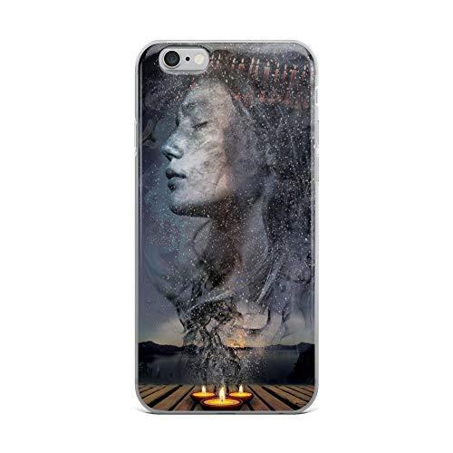 iPhone 6 Plus/6s Plus Case Anti-Scratch Phantasy Imagination Transparent Cases Cover Candle Mass Fantasy Dream Crystal -