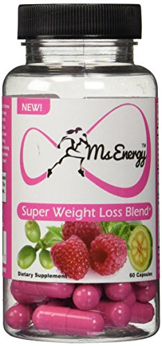 Ms Energy Super Weight Loss Blend - Pure Garcinia Cambogia Raspberry Ketones Green Coffee Bean Extract Complex Plus Premium Natural Fat Burners Formula - Lose Weight with Best Complete Weight Loss Supplements That Works Fast for Women - Extreme Diet Pills by Ms Energy