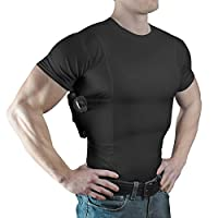 ConcealmentClothes Men's Crew Neck Undercover- Concealed Carry Holster Shirt
