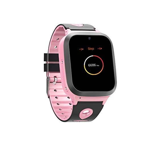 SGYH GPS Positioning Watch Phone for Kids, 2G Sim Smartwatch SOS Safety Anti-Lost Waterproof Tracker Smart Learning Watches for Children Girls Boys Phone Watch for Android iOS (Pink S61)