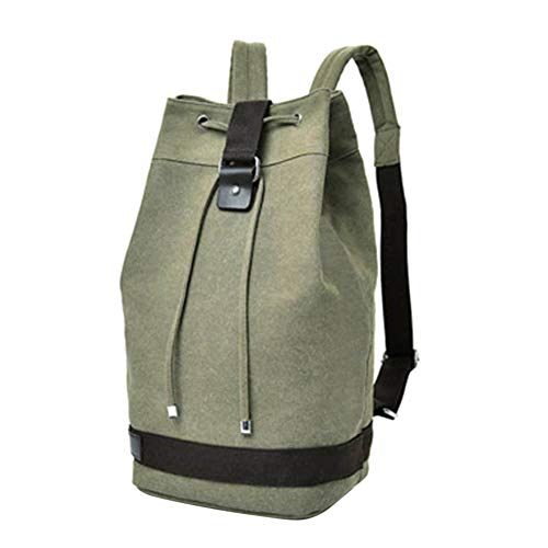Casual Shoulder Large Bag Travel Canvas Army Bag Six Climbing Camping for Women coffee Men Hiking Backpack Green Alex Rucksack wyqg4YXc