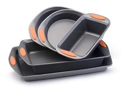 Rachael Ray Oven Lovin' Non-Stick 5-Piece Bakeware Set, Orange from RAAY7