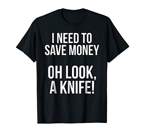 Mens Pocket Knife Collector & Enthusiast Funny T-shirt