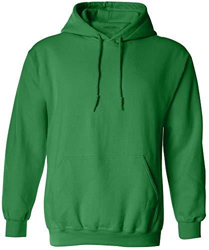 Joe's USA - Big Mens Size Extra Large Hoodie Sweatshirts-XL in Irish Green