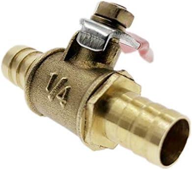 Specification : 6MM SMXGF Manija roja de la v/álvula de 6 mm a 12 mm for Manguera en l/ínea de lat/ón Agua Aceite Aire l/ínea de Gas Combustible de Cierre de la v/álvula de Bola Accesorios de tuber/ía