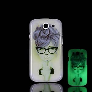 YULIN Samsung S3 I9300 compatible Graphic/Special Design/Glow in the Dark Plastic Back Cover