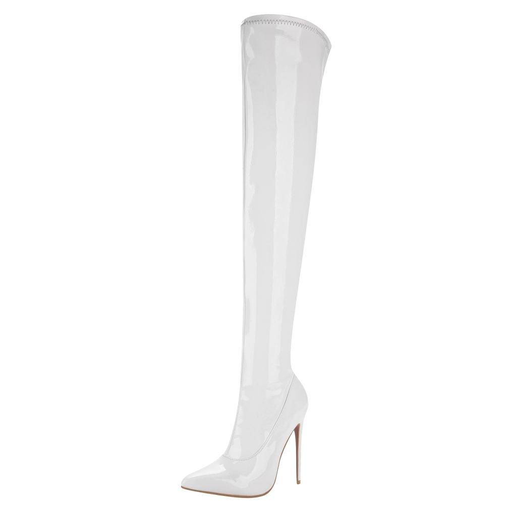 MissSaSa Bottes B001949G88 Femmes Bottes Cuissard Blanc Elastique Blanc faffc6c - piero.space