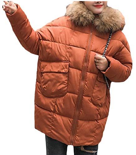 Inverno Puffer Lunga 1 Soprabito Della Ispessiscono Donne Delle Pelliccia Disposizione Parka Discesa Cappuccio Gocgt Con Aqn1wxdpA
