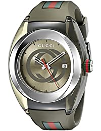 db1a377f908 SYNC XXL Khaki Watch(Model YA137106). Gucci