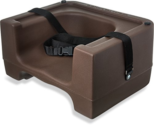 - Carlisle 7111-401 Plastic Dual Seat Restaurant-Style Booster Chair with Safety Strap, Brown