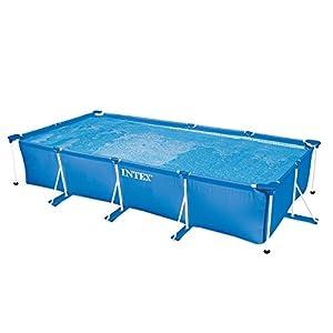 Intex 28274FR – Kit de Piscina Tubular, Estructura de Metal Azul, 4,5x 2,2x 84cm, 7100L
