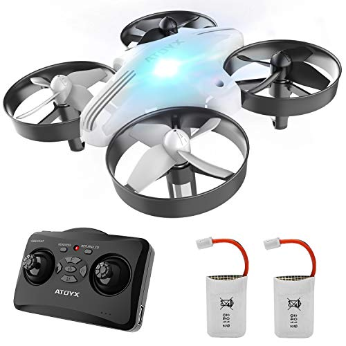 ATOYX Mini Drones for Kids RC Drone, Equipped with 2.4Ghz 4CH 6-Axis Gyro , 3D Flip, 3 Speed, LED Lights, Suitable for…