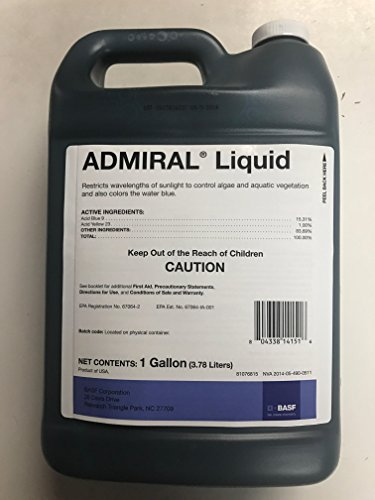 Admiral Lake and Pond Colorant Controls Algae and Aquatic Weeds-1 Gallon (Farm Pond)