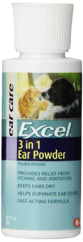 Excel 3-in-1 Ear Powder For Cats and Dogs, 1-Ounce