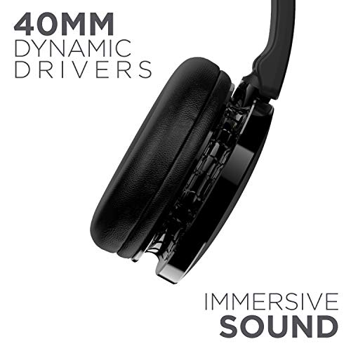 boAt Rockerz 370 Wireless Headphone with Bluetooth 5.0, Immersive Audio, Lightweight Ergonomic Design, Cosy Padded Earcups and Up to 12H Playback Bliss (Buoyant Black)
