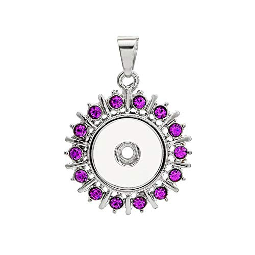 2017 NEW Crystal Alloy Pendant for Fit Noosa Necklace Snap Chunk Button A326