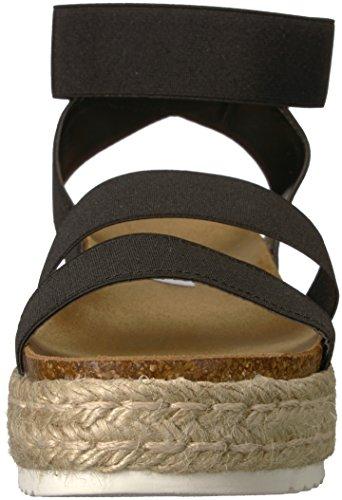 Sandal Wedge Black Madden Kimmie Steve Women's 6c4pqawpI