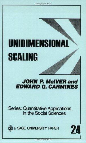 Unidimensional Scaling (Quantitative Applications In The Social Sciences)