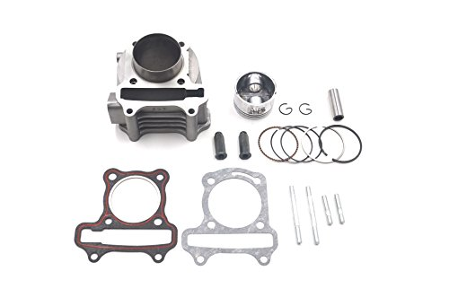 Chanoc 80cc Big Bore 47mm Cylinder Rebuild Kit for GY6 49cc 50cc ATV Scooter Moped 139QMA 139QMB