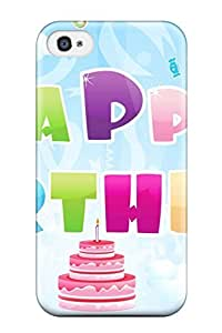 For Iphone 4/4s Protector Case Happy Birthday Bash Phone Cover