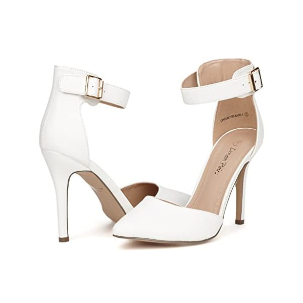7836e7addaa2c DREAM PAIRS Oppointed-Ankle Women's Pointed Toe Ankle Strap D'Orsay High  Heel Stiletto Pumps Shoes.