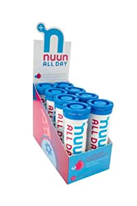 Nuun All Day: Hydrating Vitamin & Electrolyte Tablets, Blueberry Pomegranate, Box of 8 Tubes