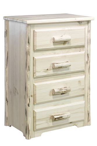 (Montana Woodworks MW4D Montana Collection 4-Drawer Chest of Drawers, Ready to)