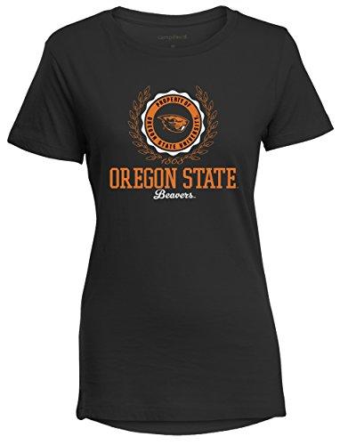NCAA Oregon State Beavers Women's Perfect Crewneck Tee, Large, Black (Oregon Ladies T-shirt)