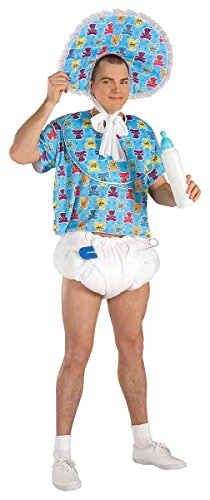 Forum Novelties Men's Baby Boomer Costume, Blue, -