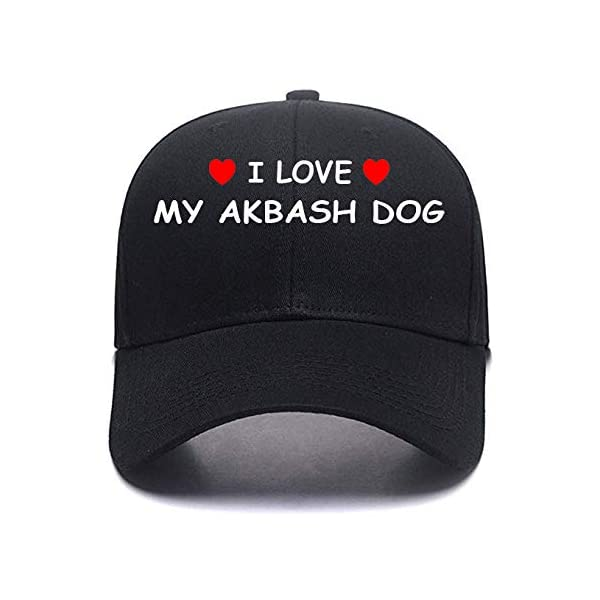 I Love My Akbash Dog Gym hat Sports Adjustable Personalized hat Any Size 1