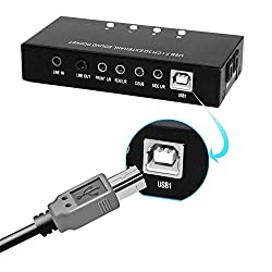 Layopo USB External 7.1 Virtual Surround Sound Card, with SPDIF Digital Audio, USB Audio Sound Card Adapter for PC/PS (Black)