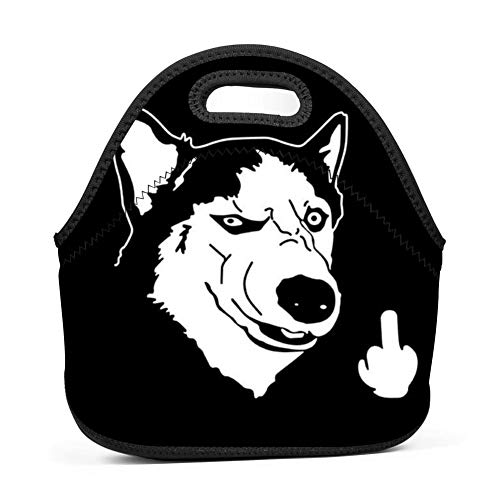 (Bad Dog Lunch Tote Thick Insulated Thermal Lunch KD-T Bag Waterproof Travel Picnic Carry Case Bento Handbags)