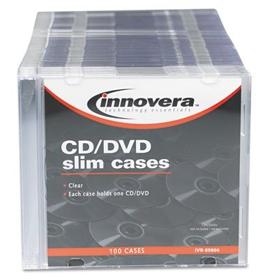 IVR85800 - Innovera CD/DVD Polystyrene Thin Line Storage Case