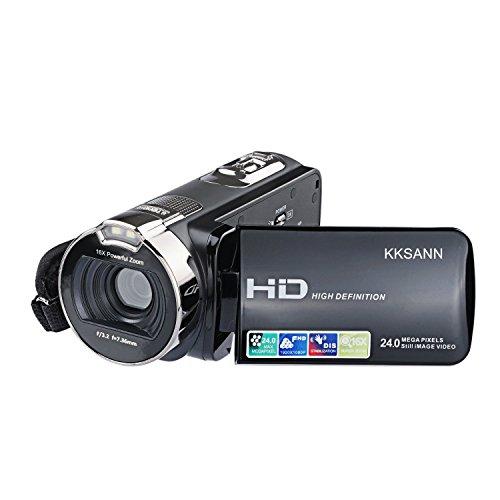 KKSANN Camcorder 312P 301STR 301STRM (Black1)